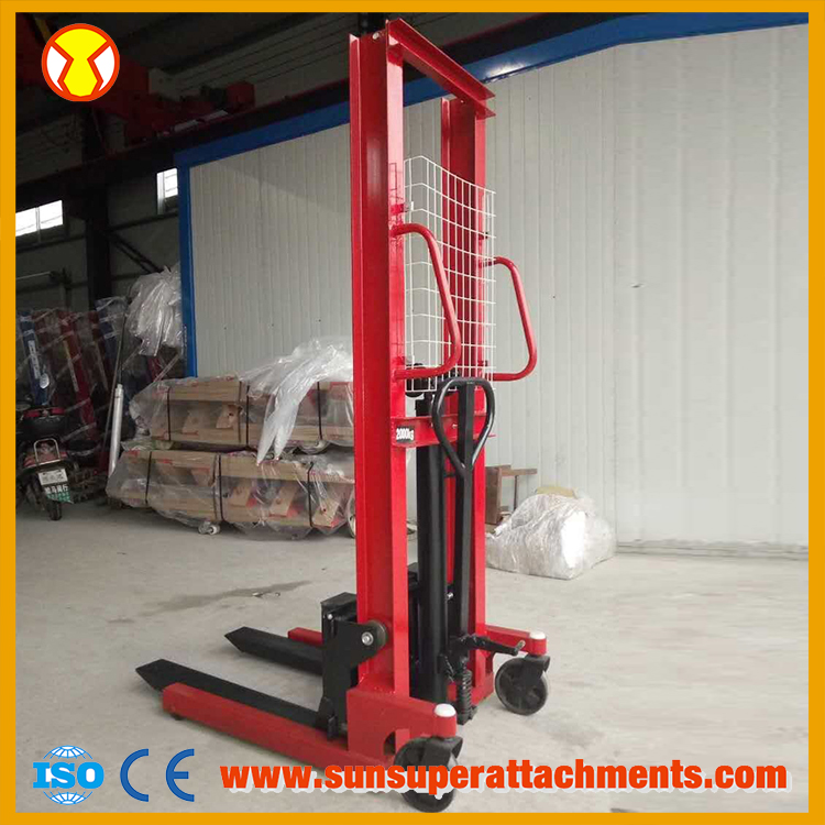 1.6m 1 Ton Hydraulic Hand Forklift Manual Stacker Price