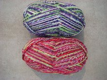 Knitting 2-ply fancy wool yarn blended acrylic