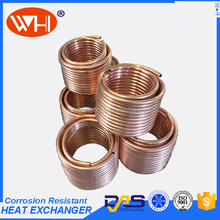 copper heat exchanger, copper evaporator tube, copper exchanger coil