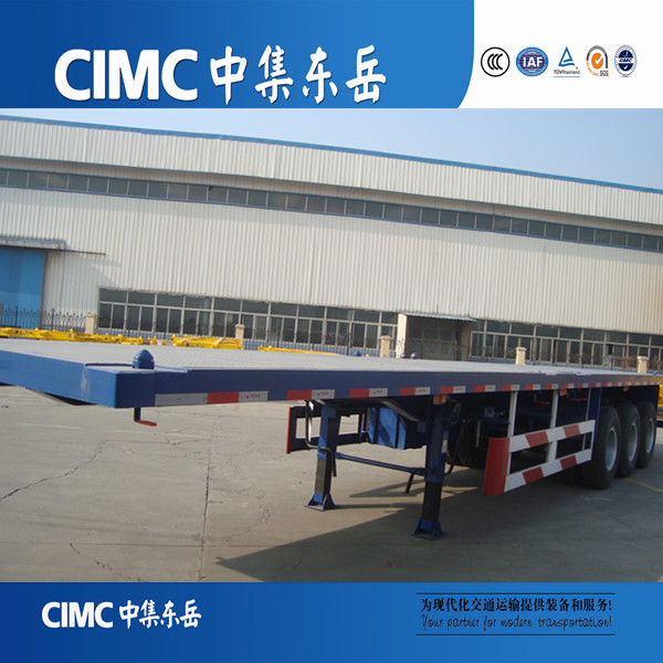 CIMC triple axles 60 tons platform container semi-trailer