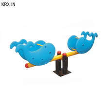 shark model kids outdoor playground seesaw
