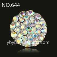 21mm Alloy rhinestone claw holder fashion pearl button garment accessories sweater embellished pearl button-644