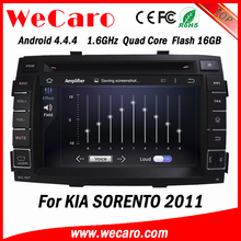 Wecaro WC-KS7042 Android 4.4.4 car multimedia system in dash for kia sorento double din car dvd player stereo 16GB Flash 2011