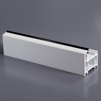 Construction Plastic PVC Profile For Window Visual Surface Thickness Customised Adjustable Extruded Plastic Profile