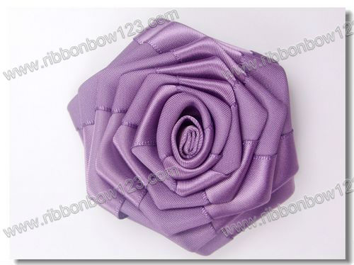 Pure handmade purple ribbon roses