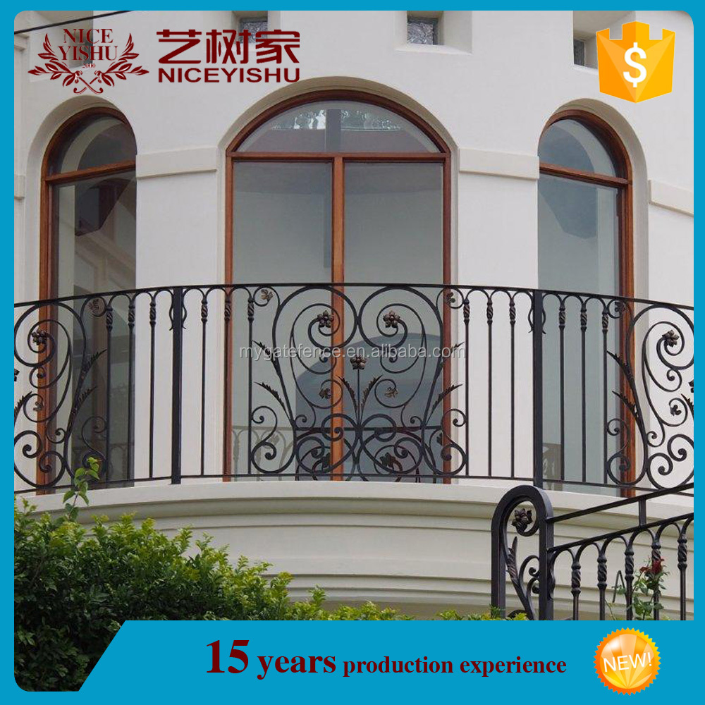 alibaba manufacture factory price security simple white railing balcony photo/luxury ornamental aluminum balcony balustrade