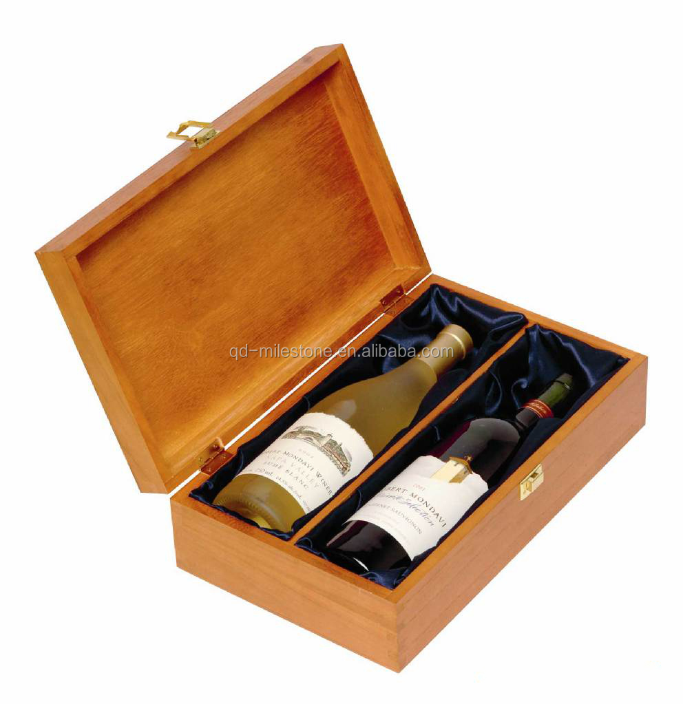 Luxury unfinished stain wooden wine box