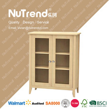 chinese natural style shoe storage cabinet solid wood shoe cabinet