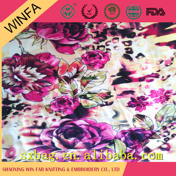 Latest Design Fabric Manufacturer Fashion Plain clothing 100% polyester knit jersey fabric