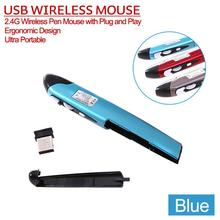 New Ergonomic Design 2.4G Wireless PC Pen Mouse With Plug and Play Ultra Portable Optical Mouse Driver