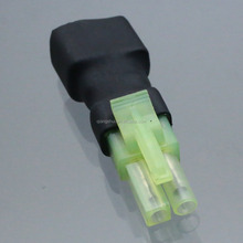 No Wires Connector: Mini-Tamiya Male to Female T-Plug (Deans Style) Adapter