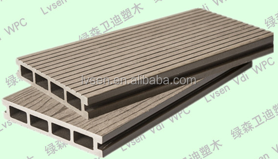 WPC Garden Furniture/ 150*26mm high quality European standard water and slip resistance balcony flooring wood plastic decking