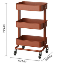 New Arrival Home Colorful Storage Cart Tableware Trolley