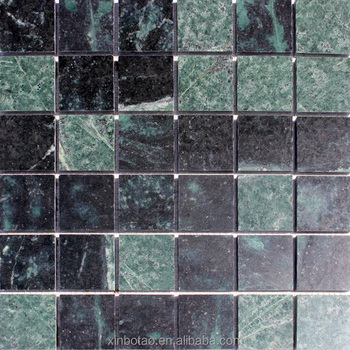 Outdoor 2x2 green marble polish mosaic wall tiles price