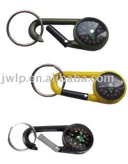Carabiner keychain carabiner keyring with compass