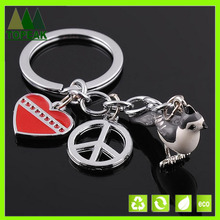 3D bird keychain Cartoon characters key chains Lovely live animal keyrings