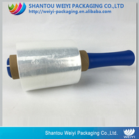 LLDPE/PE jumbo plastic protective wrap packaging film stretch film with handle