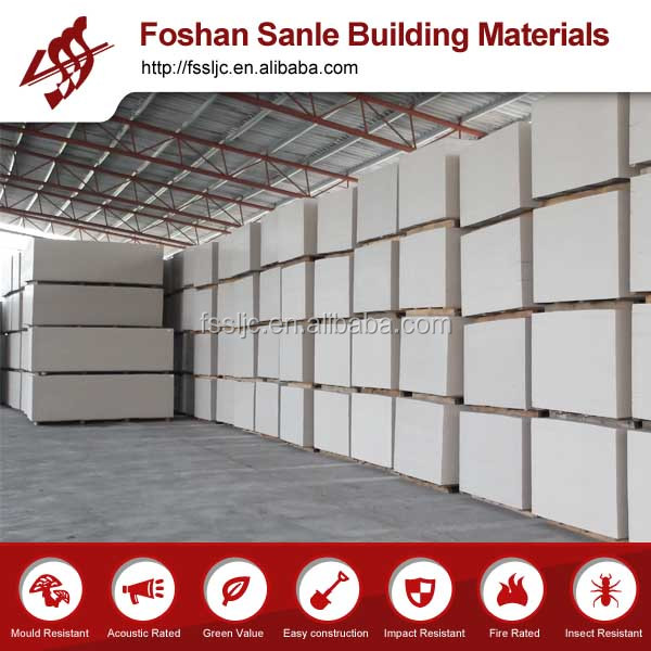 1.22*2.44m calcium silicate panel for ceiling and wall