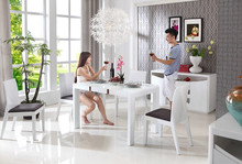 modern white high glossy solid wood legs designs wood dining table set