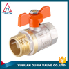 water flow meter brass valve PTFE/O-ring seal ball valve f/m thread conection brass ball valve for water, oil, gas