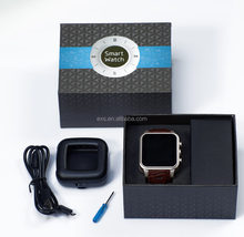 Highy quality hand watch mobile phone MTK6572 wrist smart watch EI WA8 GPS WIFI touch screen monitor