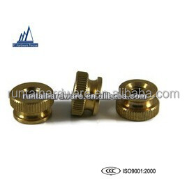 high precision hardware brass thumb nut flat knurled nuts, made in china