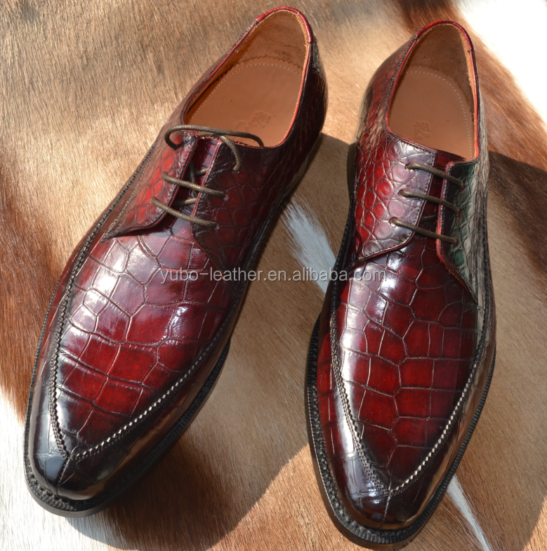 Luxury Exotic Skin Crocodile Shoes Goodyear Leather Shoes Custom Handmade Oxford Shoes