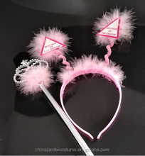 Mother of The Bride Animal Ear Headband Turban Headband Women With Wand