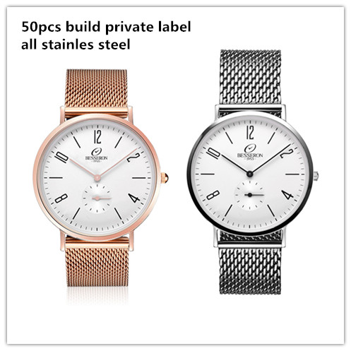 customized watch faces with your own logo , stainless steel back water resistant geneva quartz watch