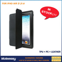 Factory Supply tablet case leather sleeve for ipad 234