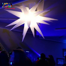 LED inflatable white lighting star / party decoration inflatable cone with led light