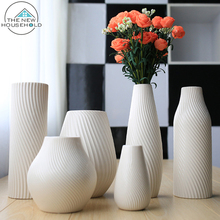 Modern creative porcelain receptacle ceramic home decoration flower vase