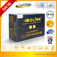 New HD fta VLC media player support wifi and PVR with turbo 8PSK azlink hd s1