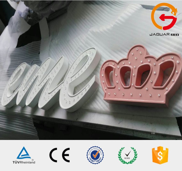 Wholesale high quality and good price 3d illuminated led marquee letter for decoration