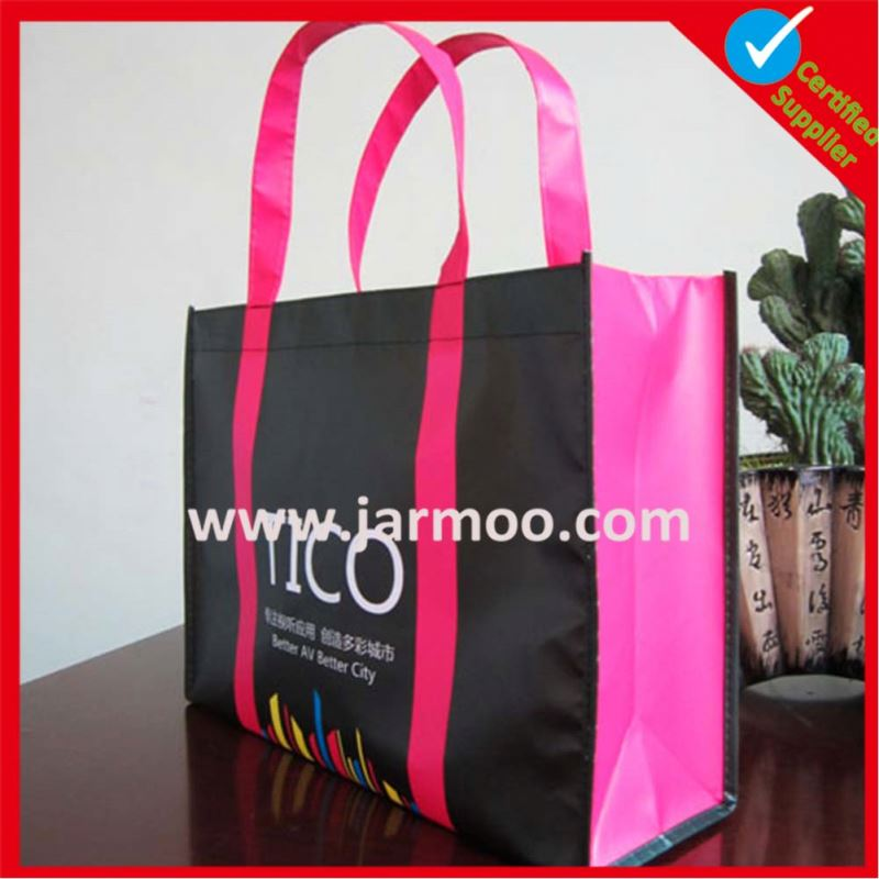 fashional China Supplier Customized logo Laminated Non Woven Bag