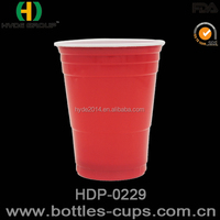 18oz Hot sell Disposable Plastic cup PP double color Cup With Custom Logo Print / beer pong cup