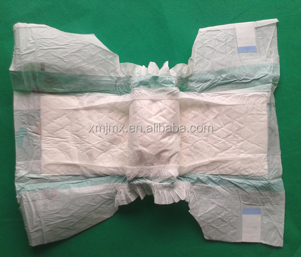 PE film joyful baby diaper with free samples