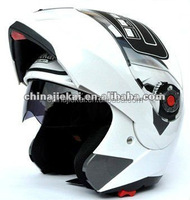 Motorcycle Helmet Dual Double Eyeglass Flip Up Sun Shield Full Open Face