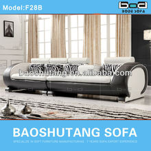 white and black great leather corner wooden sofa set designs F28b