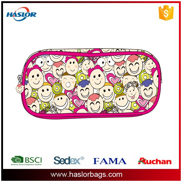 2016 Wholesale Good Design Big Capacity Promotional Fashion School Pencil Case