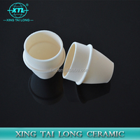 High temperature resistant curved alumina ceramic crucible for thermal analysis