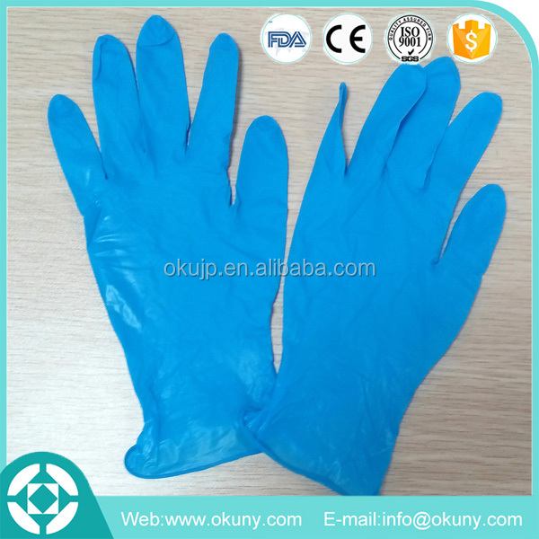 powder free S M L AQL 1.5 medical disposable gloves nitrile