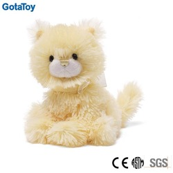 EN71 ASTM CE custom stuffed toy cat yellow