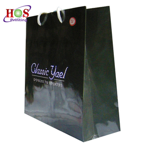 black gold clothing craft customized degradable embossed kraft mailing paper shopping bag logo for clothes with hole handle