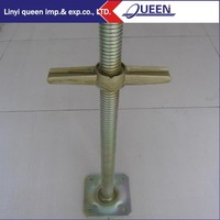 Base Jack Used In Frame Scaffold System Leveling Jack with Swivel Base Plate