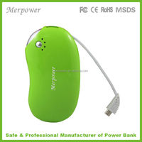 hot selling power bank charger multi usb charger with build in cable