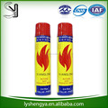 China manufacture butane gas catridges universal lighter refill