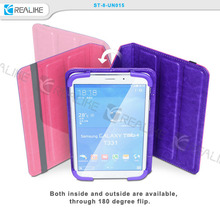 Shockproof tpu two side pu leather 7 inch universal case for tablet