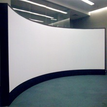 3d silver screen curved fixed frame projector screen for commercial cinema display