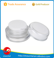 Professional plastic jar clear cosmetic jar 5g for face cream packaging